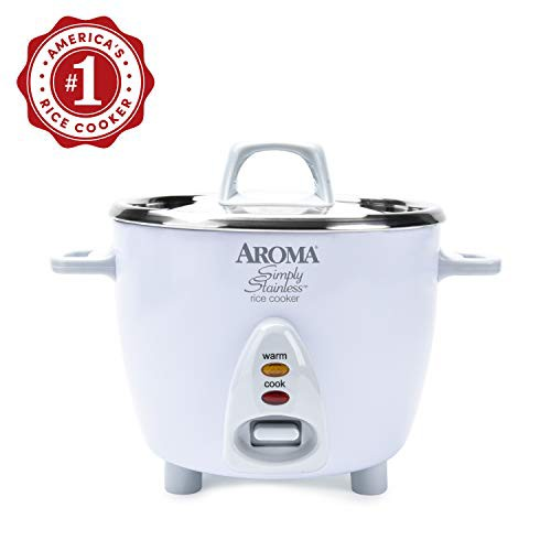 Aroma Simply Stainless 3-Cup(Uncooked) 6-Cup (...