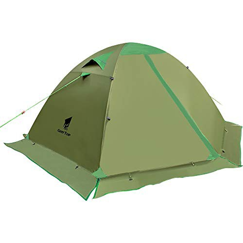 GEERTOP テント 2人用 スカート付き 4シーズンに...