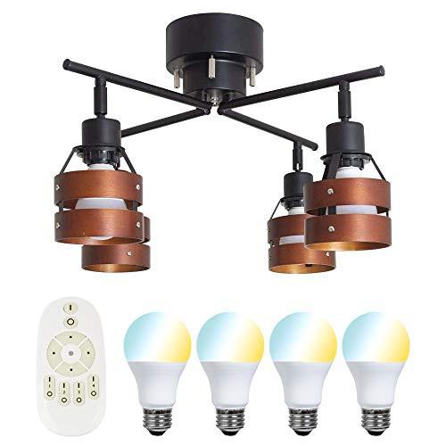 共同照明 シーリングライト 4灯 6畳 調光 調色 LE...