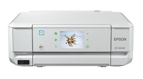 EPSON インクジェット複合機 Colorio EP-805AW 有...