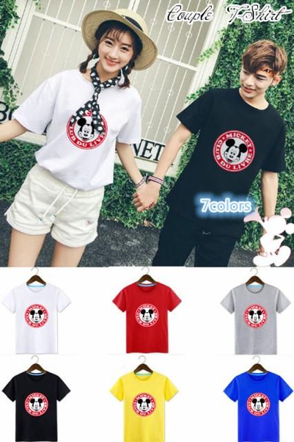 T-shirt disney ディズニー ペアルック カップル...