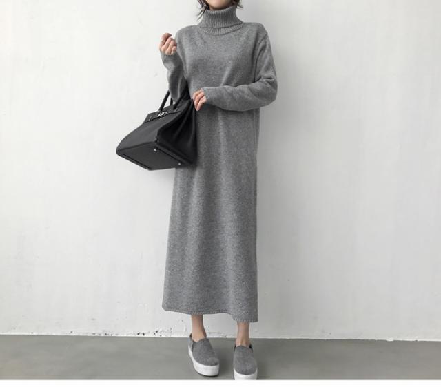 韓国 ファッション レディース ワンピース ニット...