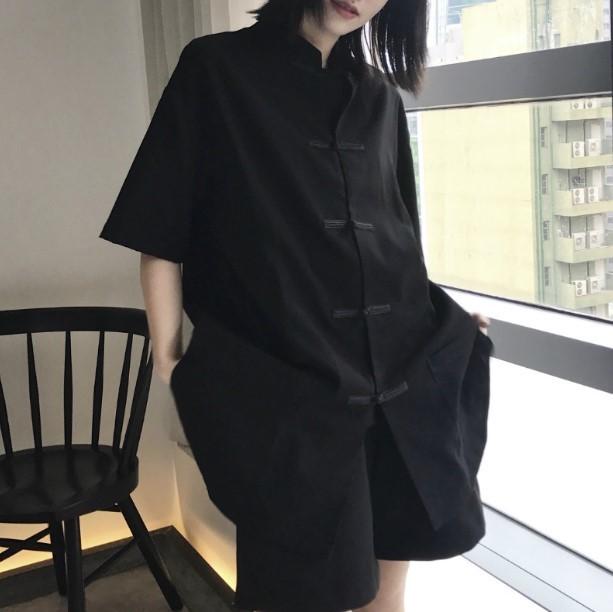 シャツ 半袖 チャイナ風 トップス チャイナ服 大...