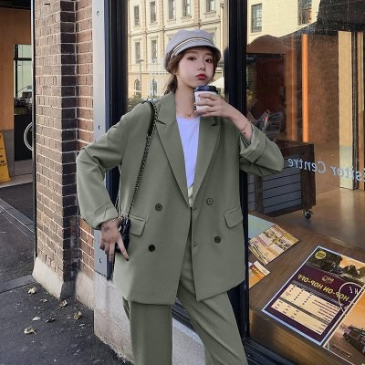 セットアップ ジャケット 韓国 ファッション レデ...