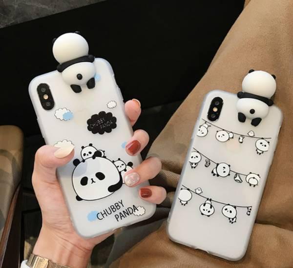 可愛い パンダ PANDA スマホケース シリコーン iP...