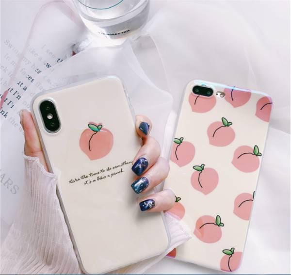 ピンク もも 桃 iPhoneXR ケース iPhoneXS Max ケ...