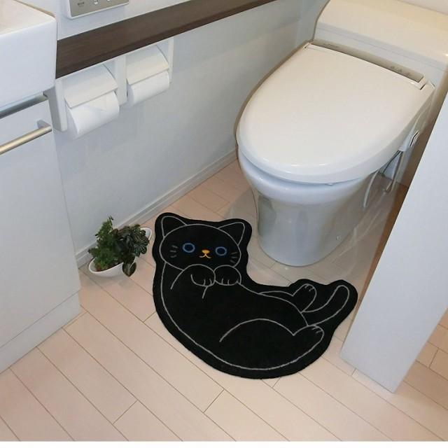 ねこのトイレマット クロ