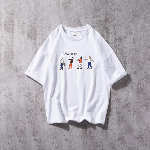 2019   メンズ   Tシャツ   半袖   プリント   ト...