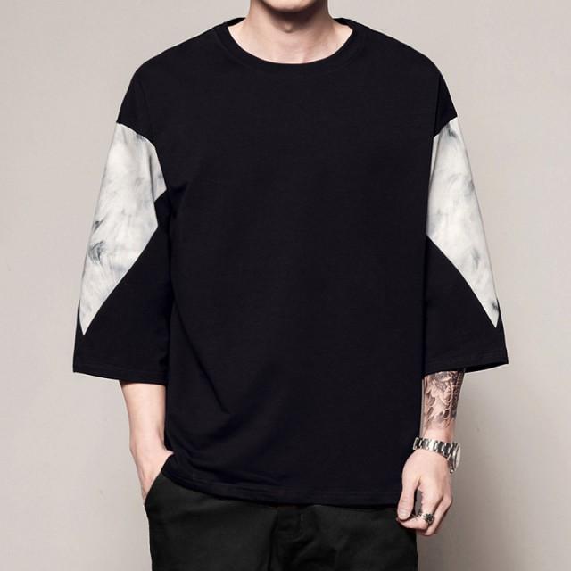 2019   メンズ   Tシャツ  七分丈袖  トップス   ...