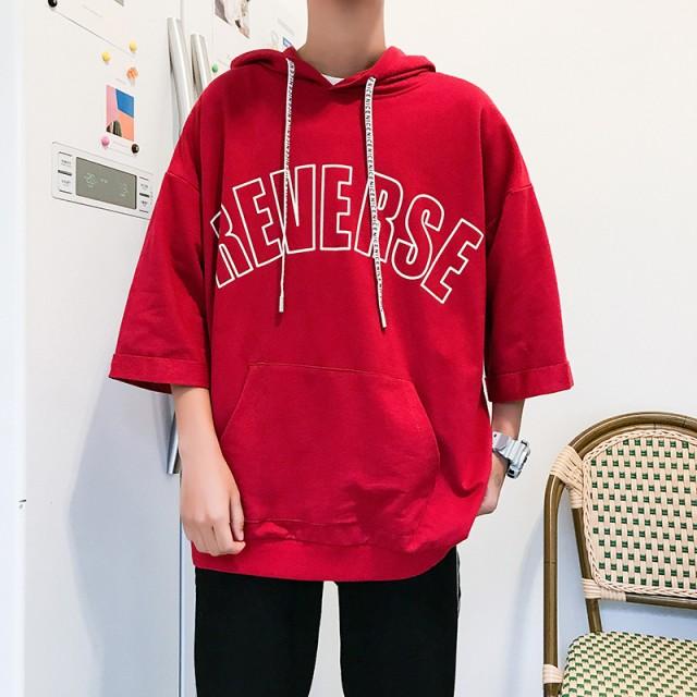 2019   メンズ   Tシャツ   パーカー  七分丈袖  ...