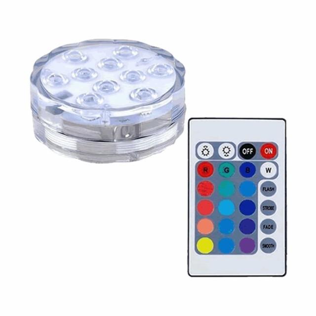 防水 潜水 水中ライト カラフル LED 16色 電池...