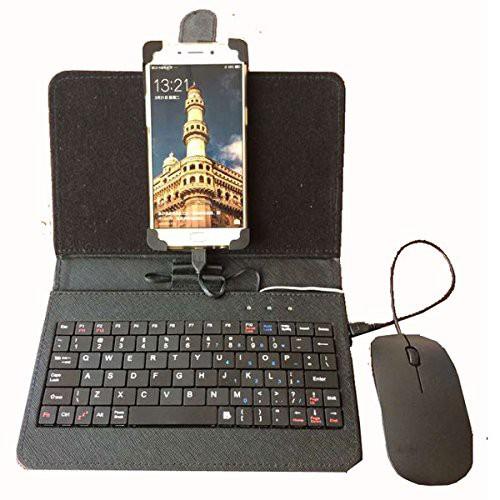 Android スマホ用 キーボード&ケース マウス付 O...