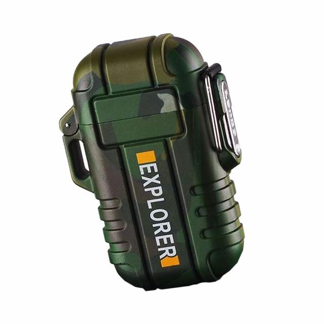 防水ライター サバイバル 防水 電子 USB 充電式 ...