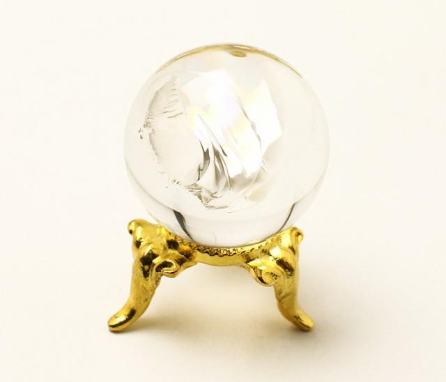 丸玉 天然水晶 (レインボー入り) φ26 No.43