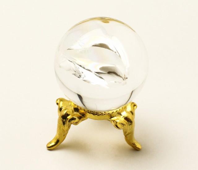 丸玉 天然水晶 (レインボー入り) φ26 No.44