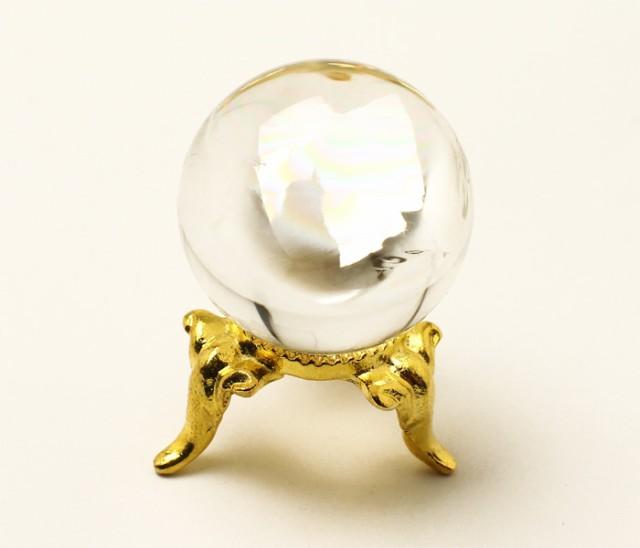 丸玉 天然水晶 (レインボー入り) φ26 No.48