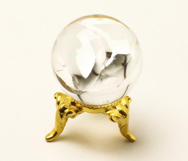 丸玉 天然水晶 (レインボー入り) φ26 No.51