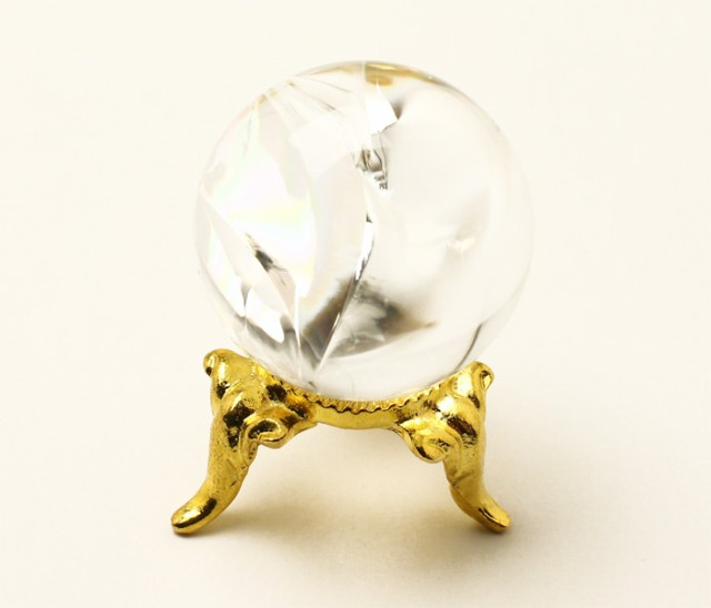丸玉 天然水晶 (レインボー入り) φ26 No.56