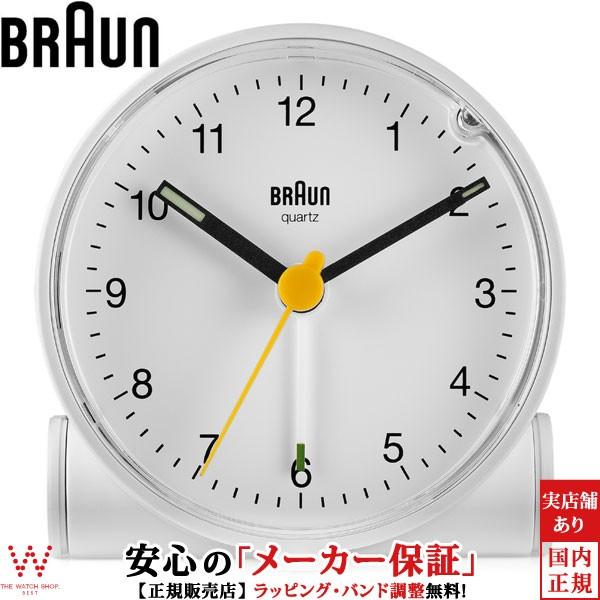 ブラウン BRAUN BC01W クロック ホワイト アラー...