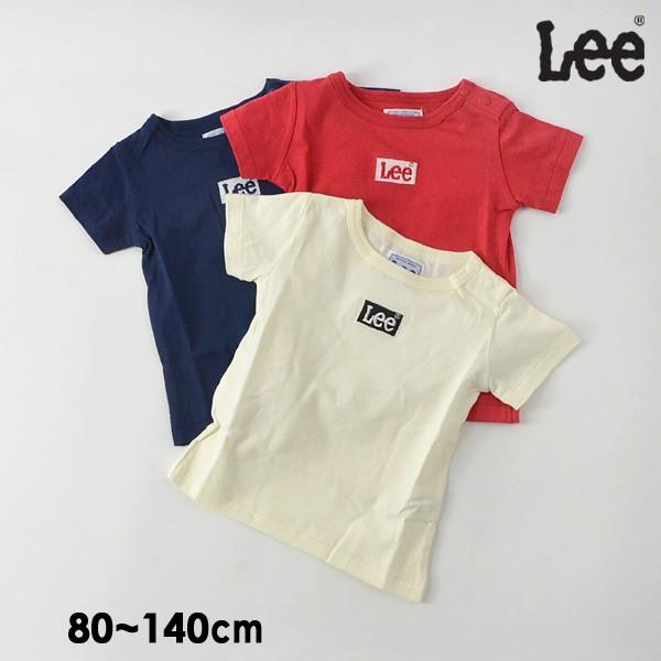 40%OFF リー 9184376-14M 刺繍BOXロゴTシャツ キッズ ベビー トップス 半袖 カットソー ブランドロゴ ボックスロゴ シンプル カジュアル