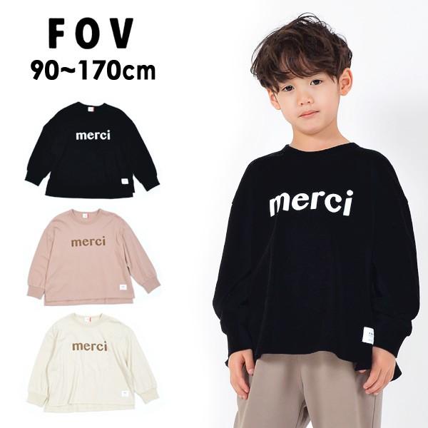 フォブ 610404-mFm merci L/S ビッグTシャツ キッ...
