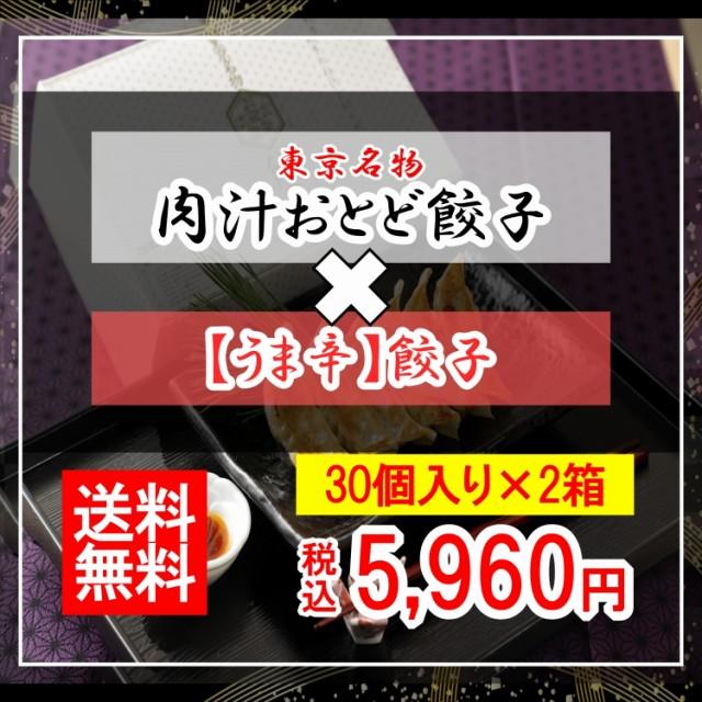 【肉汁おとど餃子】と【うま辛餃子】のセット