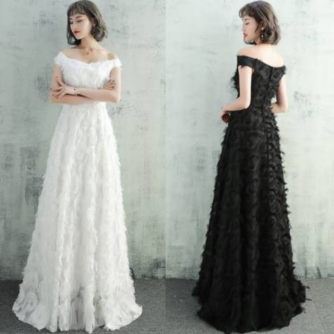 c5a9f5015258e ロングドレス 黒 パーティードレス ウェディングドレス ワンピースドレス 結婚式 二次会 演奏会 白 大きい