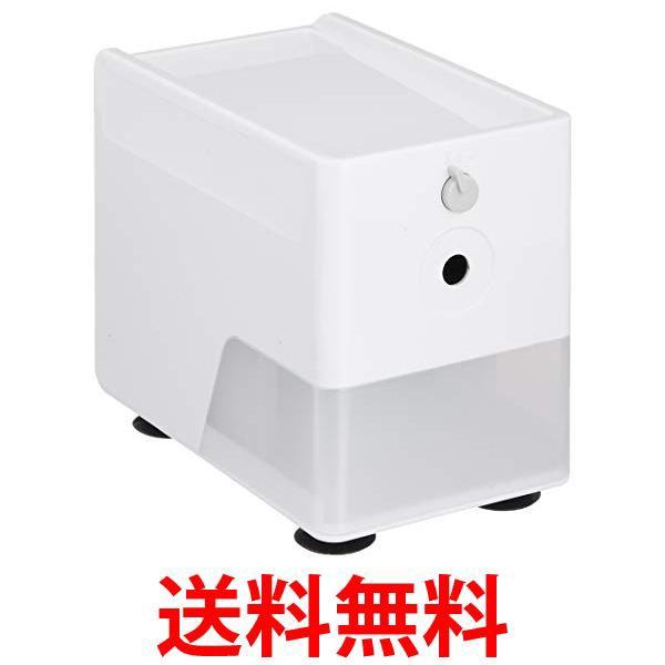 ナカバヤシ DPS-601W ホワイト 電動鉛筆削り ス...