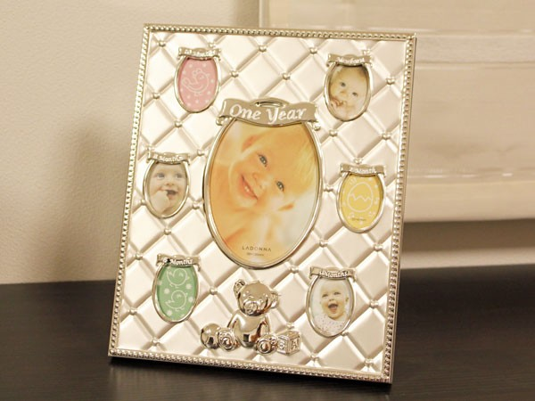 ベビーフレーム 7窓 フォトフレームメモリアルフォトフレーム 写真立て インテリア 出産祝い
