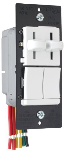 Pass & Seymour LSDC163PWV Dual Control Slide P...