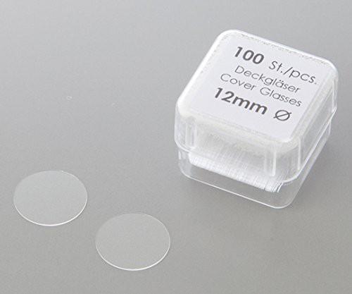 アズワン 丸型カバーグラス No.0111550 φ15mm 10...