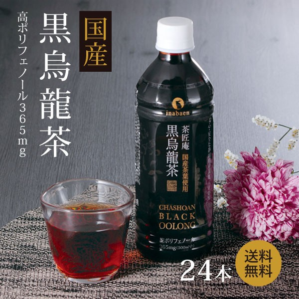 黒烏龍茶 茶匠庵 国産黒烏龍茶 500ml×24本 送料...