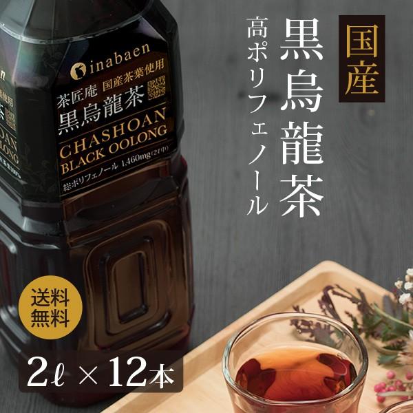 黒烏龍茶 茶匠庵 国産黒烏龍茶 2L×12本 送料無料...