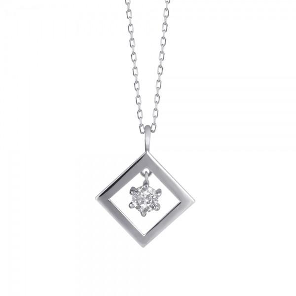 ダイヤモンド ネックレス K18ホワイトゴールド 0....