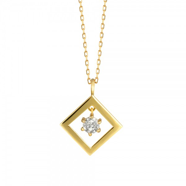 ダイヤモンド ネックレス K18イエローゴールド 0....