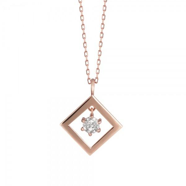 ダイヤモンド ネックレス K18ピンクゴールド 0.2...