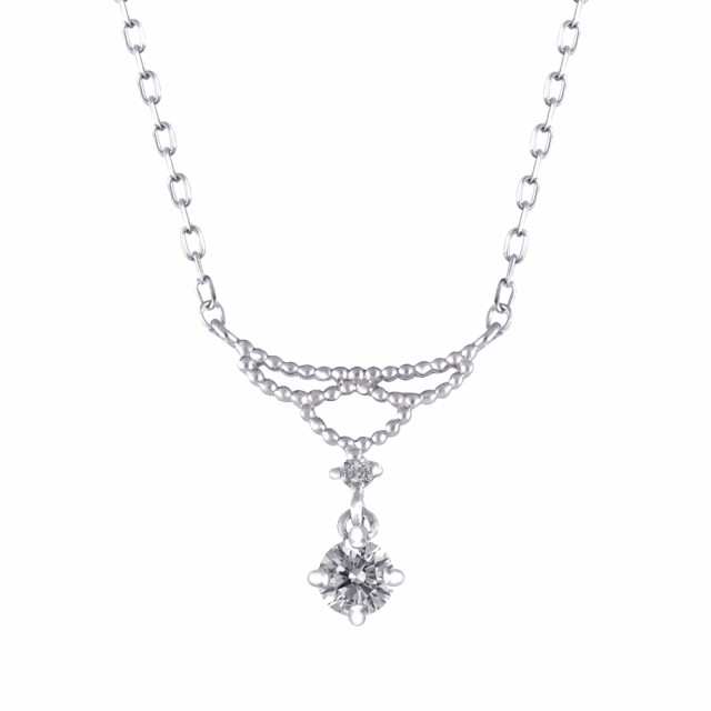 プラチナベルギーダイヤモンドペンダント(0.13ctU...
