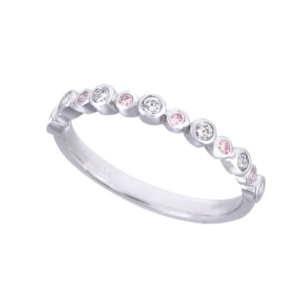 ピンクダイヤモンドリング(アーガイル/ハーフエタ...