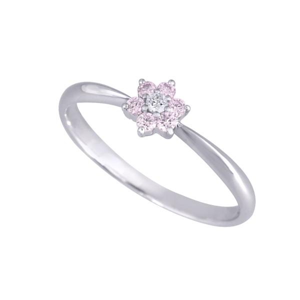 ピンクダイヤモンドリング(アーガイル/フラワー/...