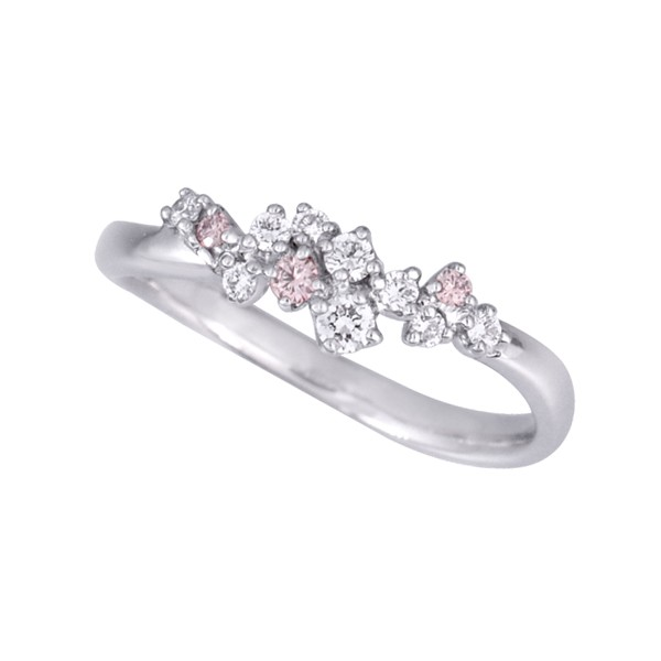 ピンクダイヤモンドリング(アーガイル/フラワーガ...