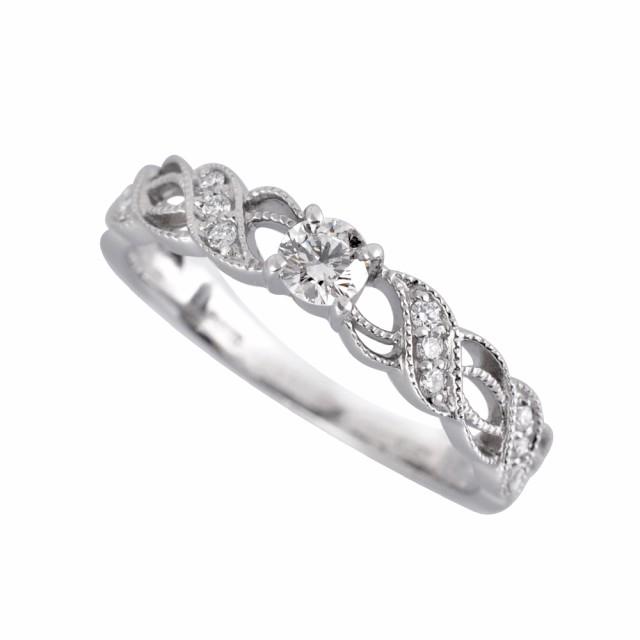 プラチナベルギーダイヤモンドリング(0.13ctUP/F...