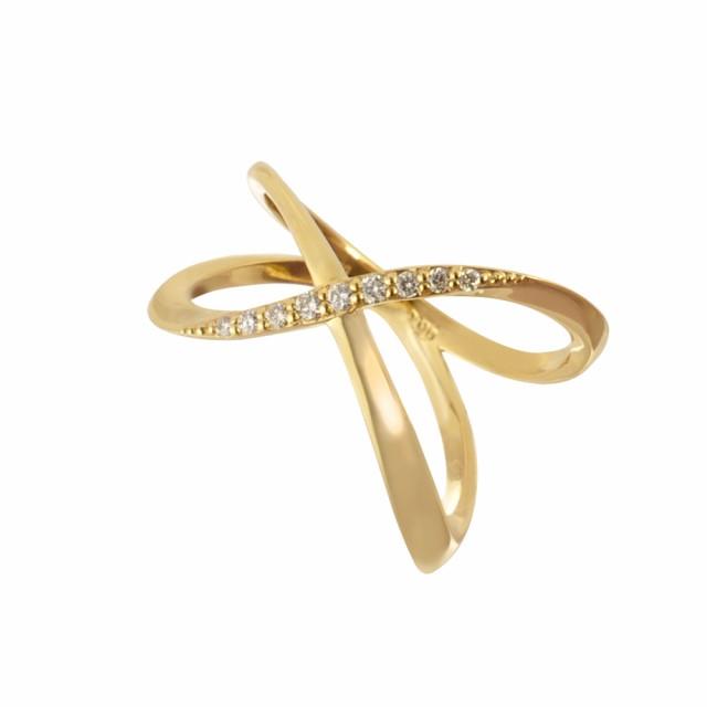 ダイヤモンド リング 指輪 K18イエローゴールド ...