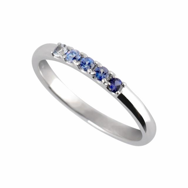 ベニトアイト リング 指輪 プラチナ 5石 0.16カラ...