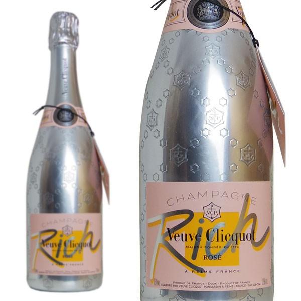 父の日 ギフト シャンパン ヴーヴ クリコ リッチ ロゼ 750ml 正規