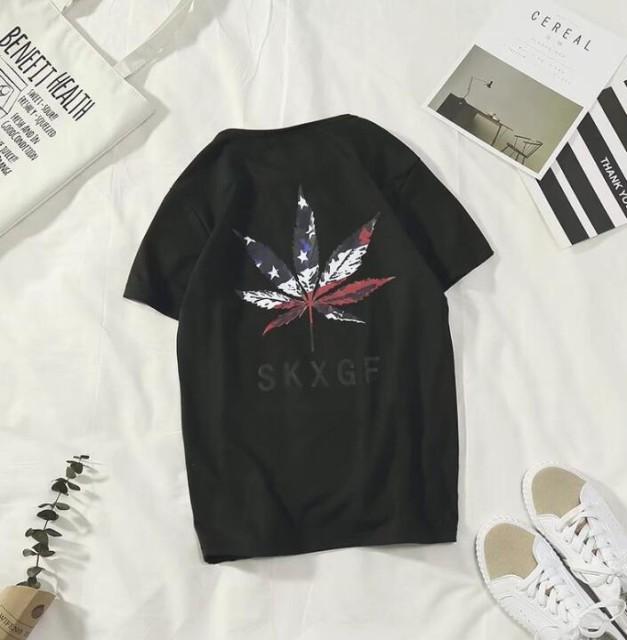 【サマーセール】 メンズ Tシャツ マリファナ プ...