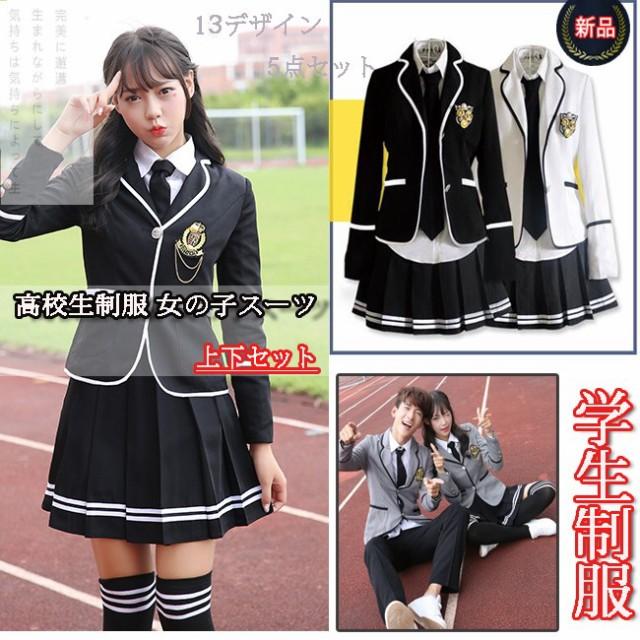 卒業式スーツ女子 学生服 制服 女の子スーツ 上下...