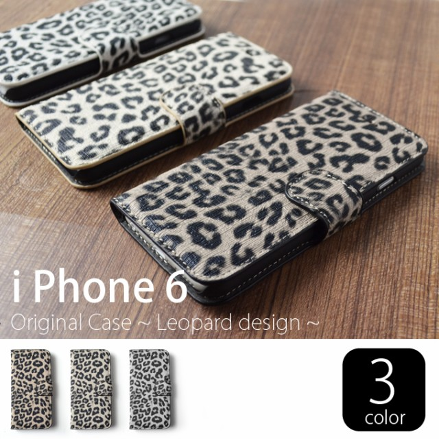 iPhone6/6s ケース/カバー 豹柄手帳ケース ヒョ...