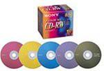 SONY 10CDRW650EX CD-RWメディア 650MB カラーMIX...