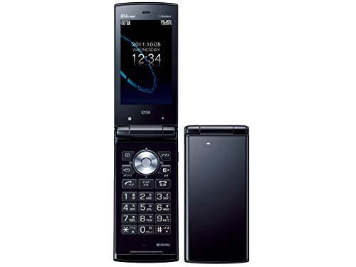 E10K ブラック 携帯電話 白ロム au(中古品)