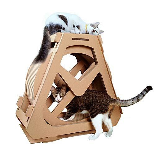 RAKU 猫つめとぎ 観覧車 回し車 キャットタワー ...